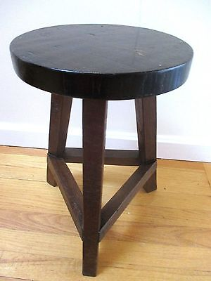 Antique Vintage Arts Crafts Mission Hand Hewn Stool Table Handcrafted Wood Stand