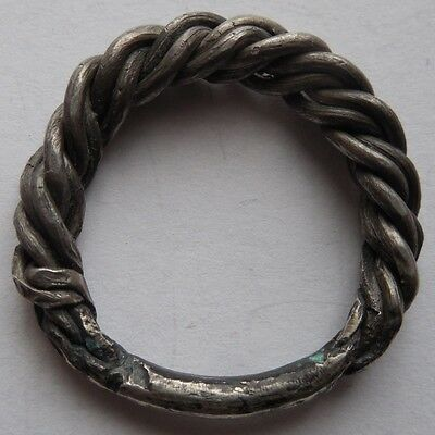 Silver ring crimped hard Viking Period  6.14g. 900-1300 AD VF+++