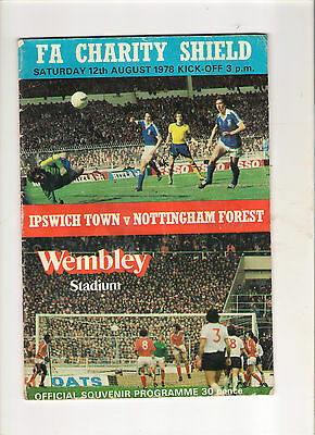 1978   Charity Shield----Ipswich v Nottingham Forest