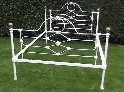 "Victorian iron bed 4'6"" wide"