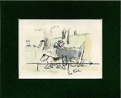"""Lucy Dawson ~ Jack Russell ~ """"Tea Time"""" Hand Coloured Genuine Vintage 1936"""