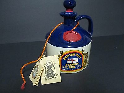 "Large BRITISH NAVY RUM PUSSER ""Jolly Jack"" 1.75 LITER/LITRE w/ original tags"