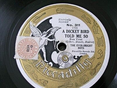 Ever-Bright Boys A Dicky Bird Told Me Picadilly 311