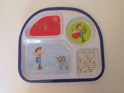 Toy Story Woody And Buzz Kids Plate With Compartments