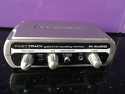 M-Audio Fast Track Guitar Mic Recording Interface Untested