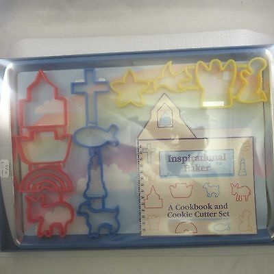 INSPIRATIONAL BAKER Cookbook, Cookie Cutter and Cookie Baking Tray set