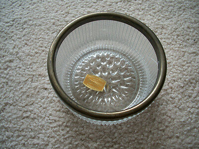 Cristal Au Plomb Genuine Lead Crystal Made in England Bleikristall Candy Dish