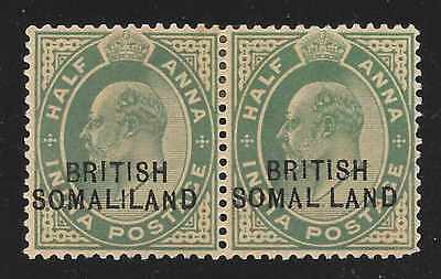 "British Somaliland Pair #25 + #25d ""Missing I"" Variety MINT H"