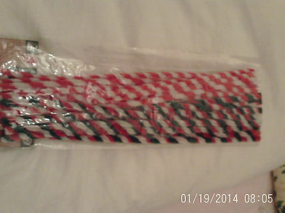 BNWT in pack 20 red white green striped  pipecleaners  christmas crafts