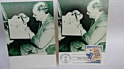 Stamp Collecting First Day Issue 22 Cent Post Card Roosevelt 2 Cards 1 Cancelled