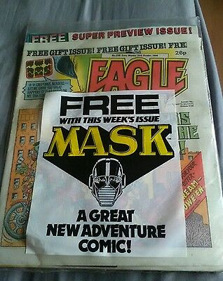 eagle comic issue no 240 october 1986 sealed with free gift