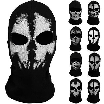 NEW Call of Duty 10 Ghost Skull Face Mask Cosplay Balaclava Skateboard Bike Hood