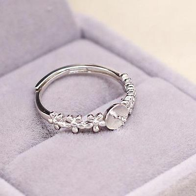 5-8mm Pearl 925 Sterling Silver Semi Mount Engagement Wedding Ring Semi Mount
