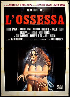 L'ossessa Manifesto Cinema Poster Movie Gariazzo Carnacina Horror Sexy Demonio