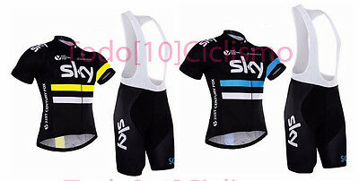 Equipacion Sky Team ciclismo conjunto maillot culotte Cycling Tour mtb spinning