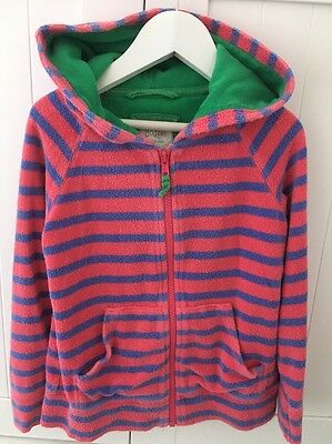Girls Mini Boden Toweling Hoodie age 6-7 Years