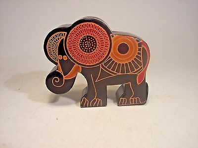 Hand crafted leather Elephant Piggy Bank. Product of India