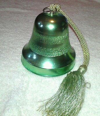 Vintage *LIME GREEN* Reuge Swiss Musical Movement Christmas Bell