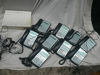 NEC  PABX  Xen  Topaz Telephone System --- 9 Handsets and Main CPU