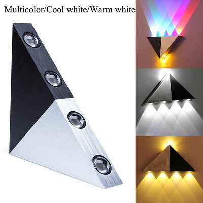Triangle 5W LED Wall Light Lamp Hallway Bedroom Wall Sconce Lamp Fixture 3Colors