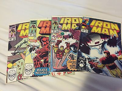 Iron Man Comics 4 Issue Lot 253, 255, 257, And 266 (Marvel)