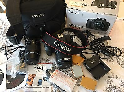 Canon 600D Digital SLR camera Including Bag, Extra Batteries And Two Lens