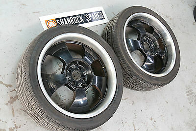 """2 X Nissan Ford 18"""" Alloy wheels used Condition PCD 4 X 114.3 Kumho Tyres"""