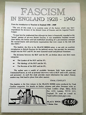 Fascism in England Sir Oswald Mosley BUF UM Fascists Pre NF BNP Nationalist 30's