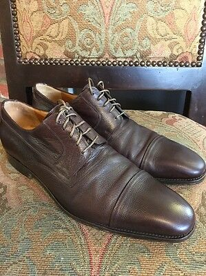 Gucci Brown Leather Men's Shoes Size 9