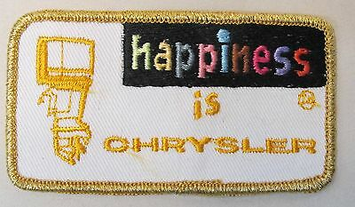 CHRYSLER OUTBOARD MOTOR 1970's vintage embroidered cloth shirt or jacket patch