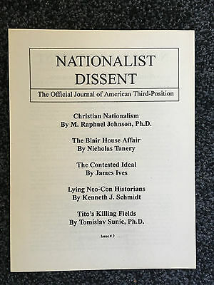 Nationalist Dissent #2 American Third Position 2001 TP nf bnp FN NPD isd b28