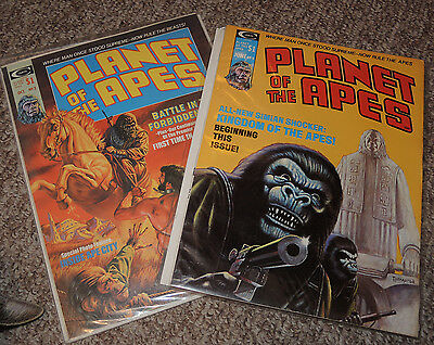 2x magazine  PLANET OF THE APES Stan Lee issues # 2 #9