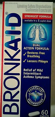 60 ct BRONKAID Strongest Formula Asthma COPD SAME DAY FREE SHIPPING