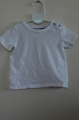 Target White Blue Short Sleeve Top Size 3-6 mths 00