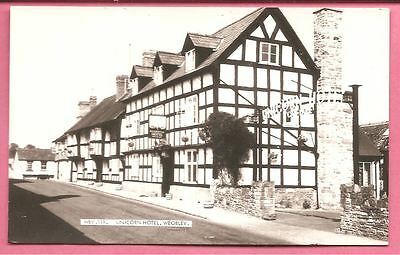 Unicorn Hotel, Weobley, Herefordshire postcard. Real Photo. Frith.