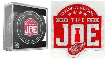 "Detroit Red Wings Puck & Patch ""farewell Season"" The Joe Stanley Cup Champions"
