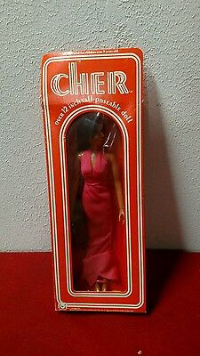 """Vintage Mego 1976 CHER Doll ~ 12""""-  Pink Gown- in box toy figure"""