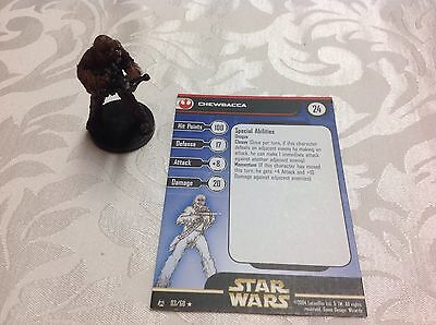 Star Wars Miniature with stat card Chewbacca 3/60