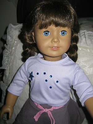 """American Girl Pleasant Company Doll Brown Hair and Bright BLUE EYES 18"""""""