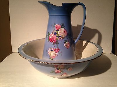 Antique Bowl and Pitcher