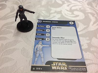 Star Wars Miniature with stat card General Veers 26/60