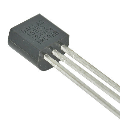Dallas Semiconductor DS18B20+ Temperature Sensor Digital Serial 1 Wire 3  2 pcs