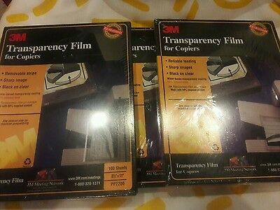 """3M PP2500 Transparency Film For Copiers  8 1/2"""" x 11"""" (100 SHEETS) NEW & SEALED"""