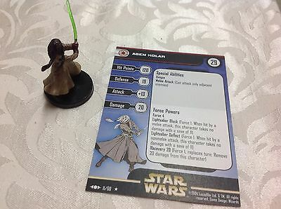 Star Wars Miniature with stat card Agen Kolar 11/60