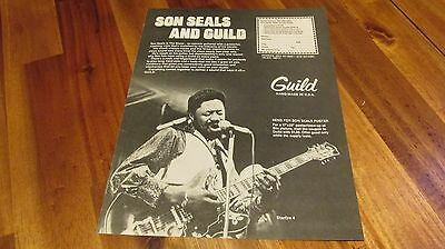 1980 Guild Son Seals Starfire 4 Guitar Pinup Ad