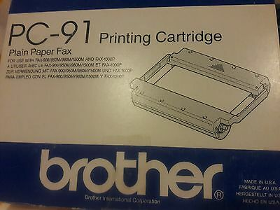 Brother PC-91 Printing Cartridge for Plain Paper Fax New in Box Genuine
