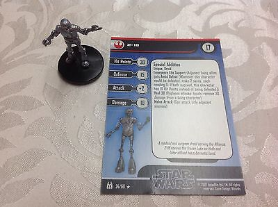 Star Wars Miniature with stat card 2-1B 24/60