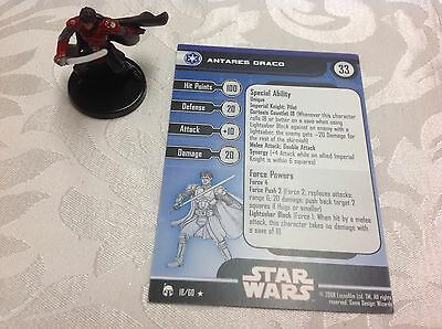 Star Wars Miniature with stat card Antares Draco 18/60