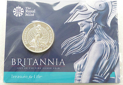 £50 pound silver coin Britannia from Royal Mint new unopened