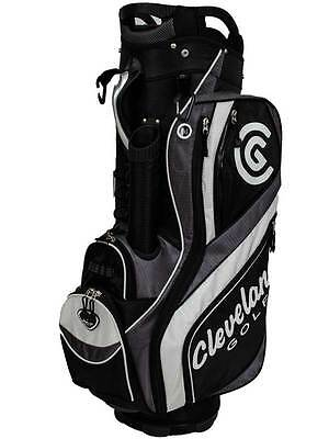 Cleveland 15 Cart Golf Bag - Black/charcoal/white - New In Box - Value Plus!